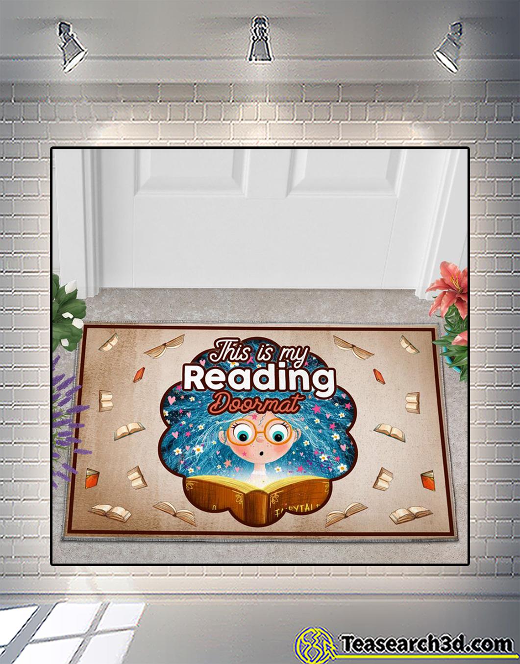This is my reading doormat 1