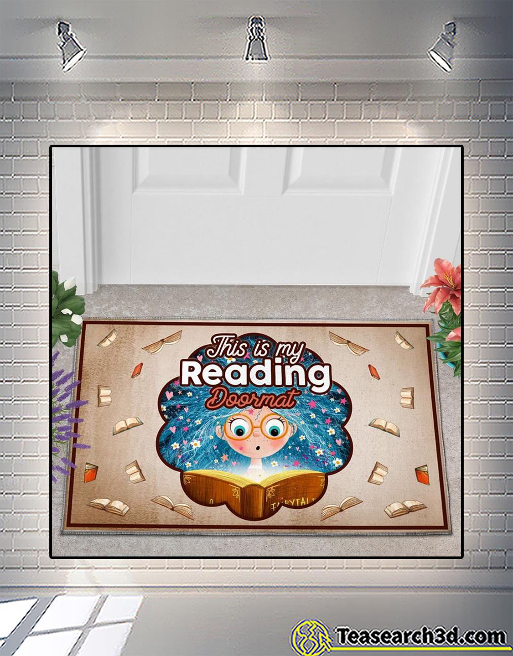This is my reading doormat