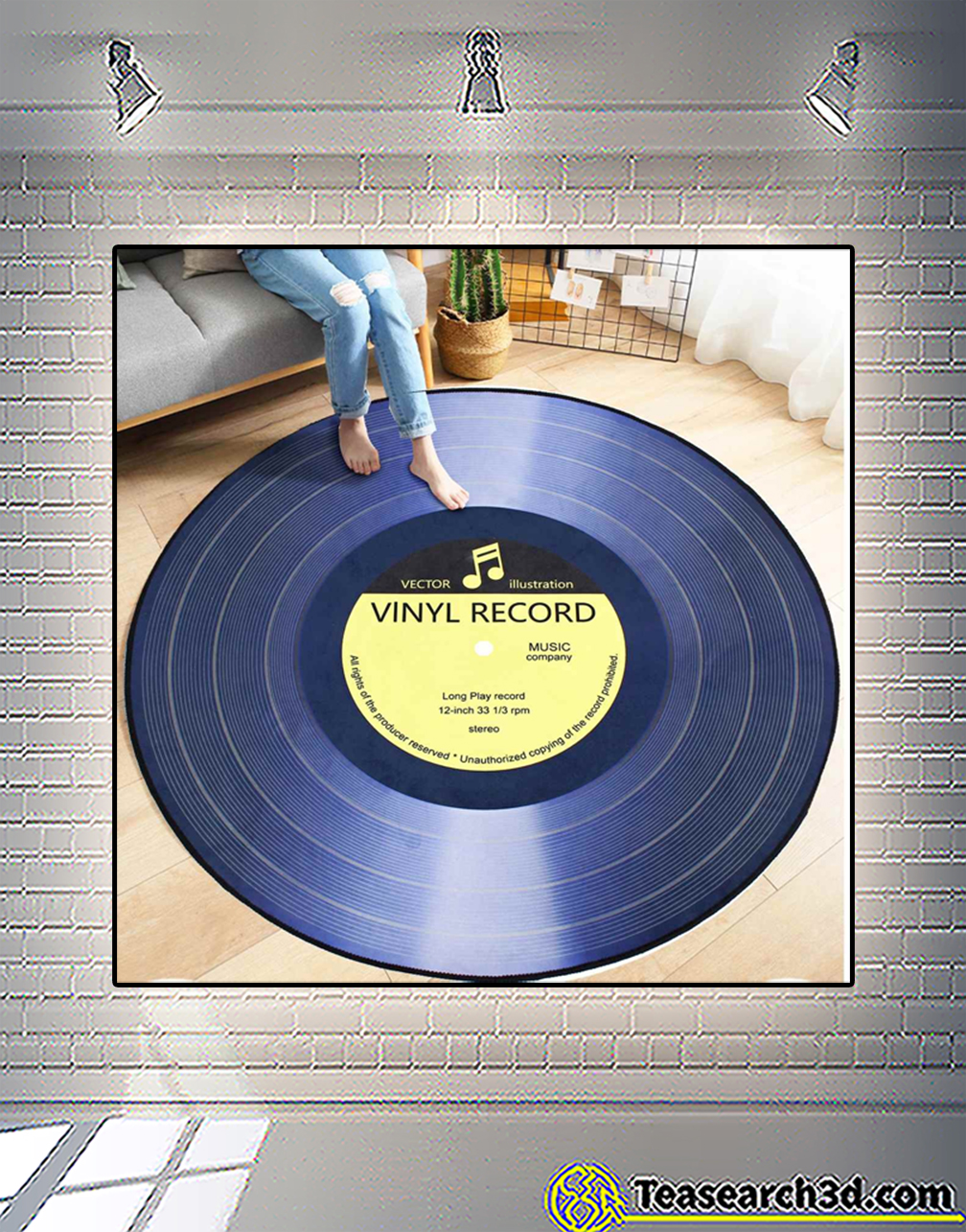 Vinyl record rug