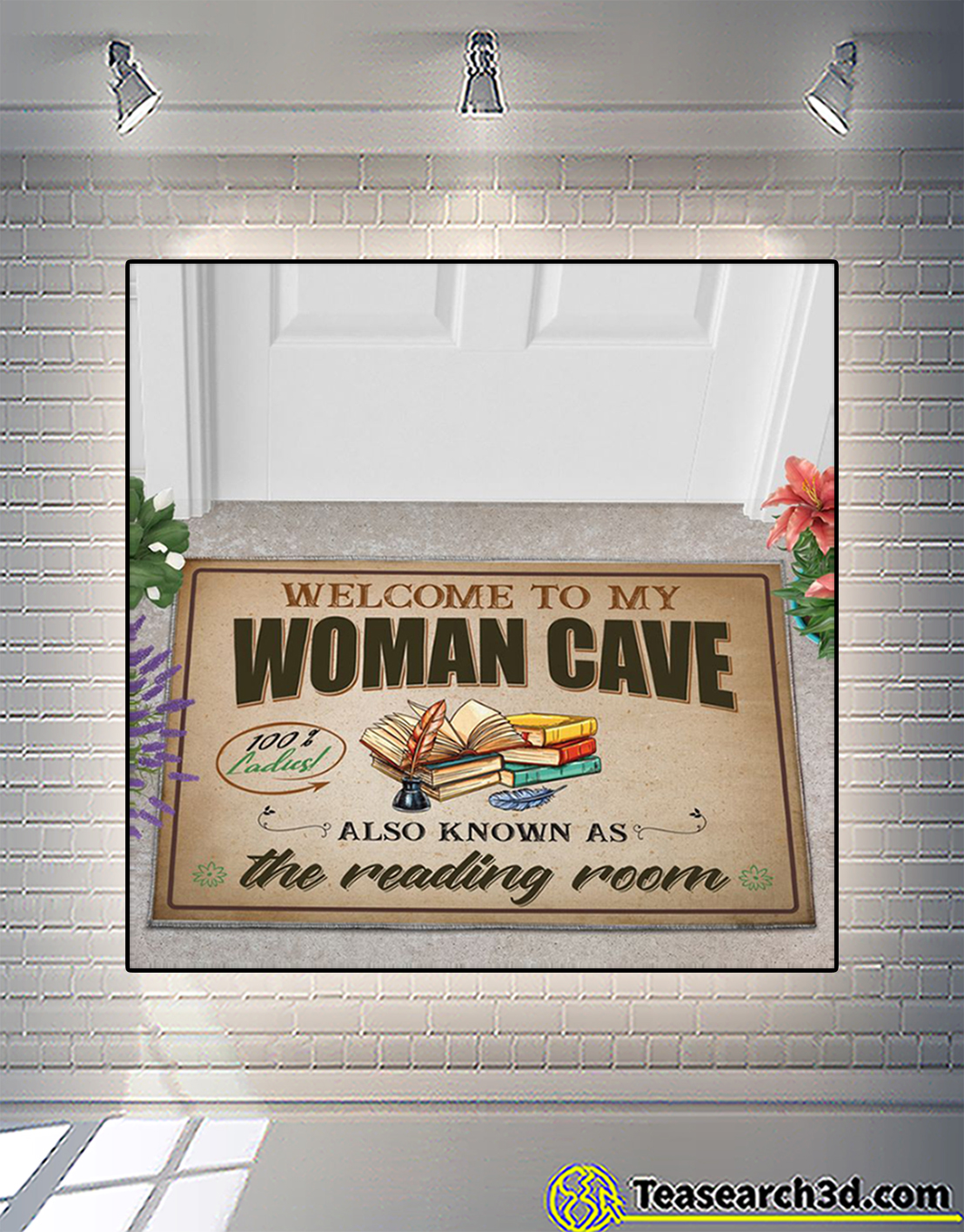 Welcome to my woman cave also know as the reading room doormat 2