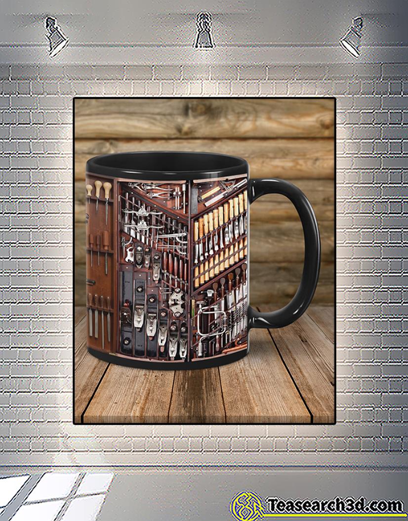 Woodworking carpenter toolbox mug back