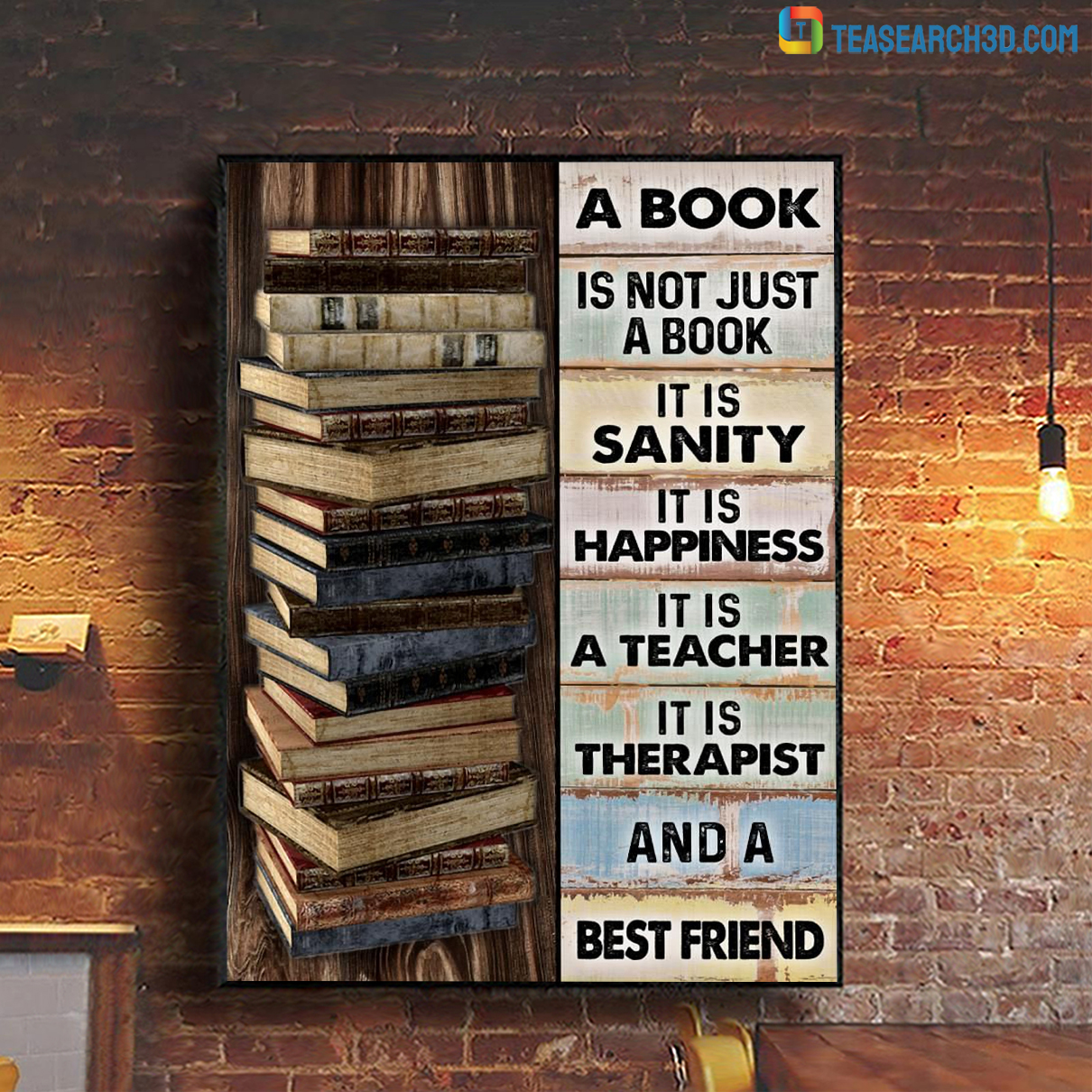 A book is not just a book it is sanity poster A1