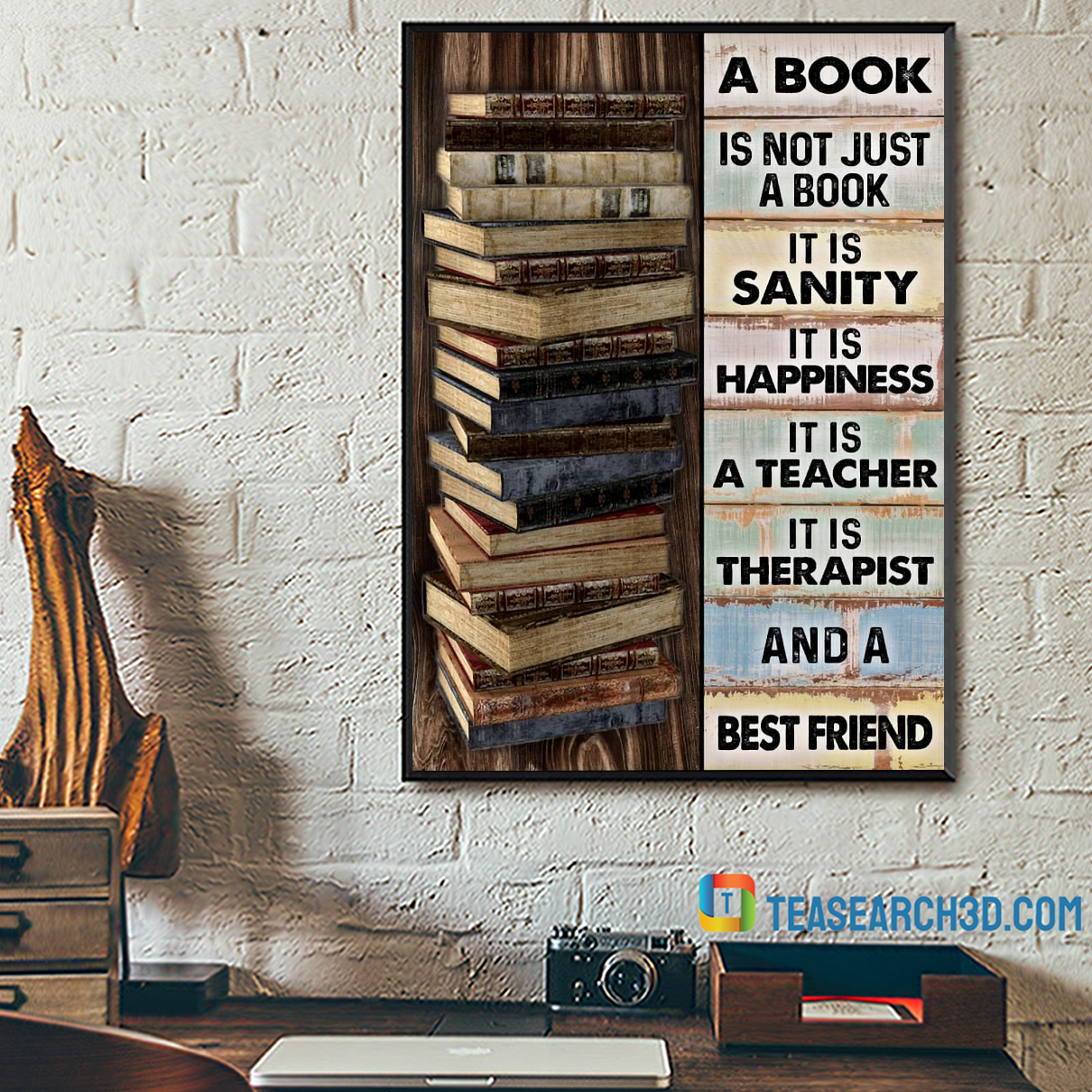 A book is not just a book it is sanity poster A2