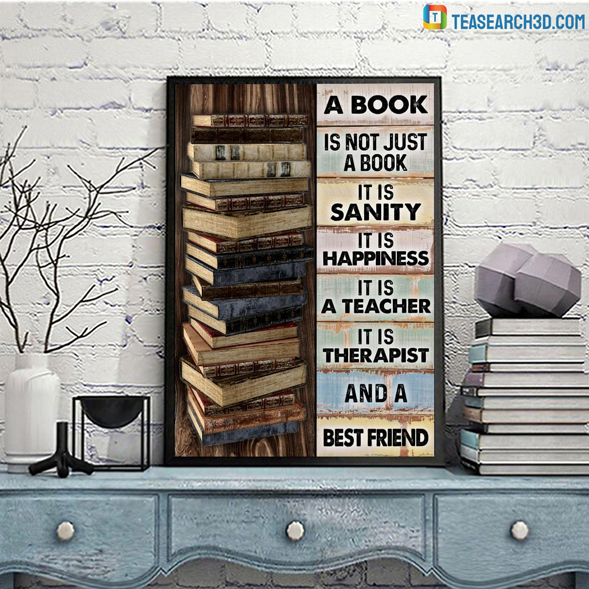 A book is not just a book it is sanity poster A3