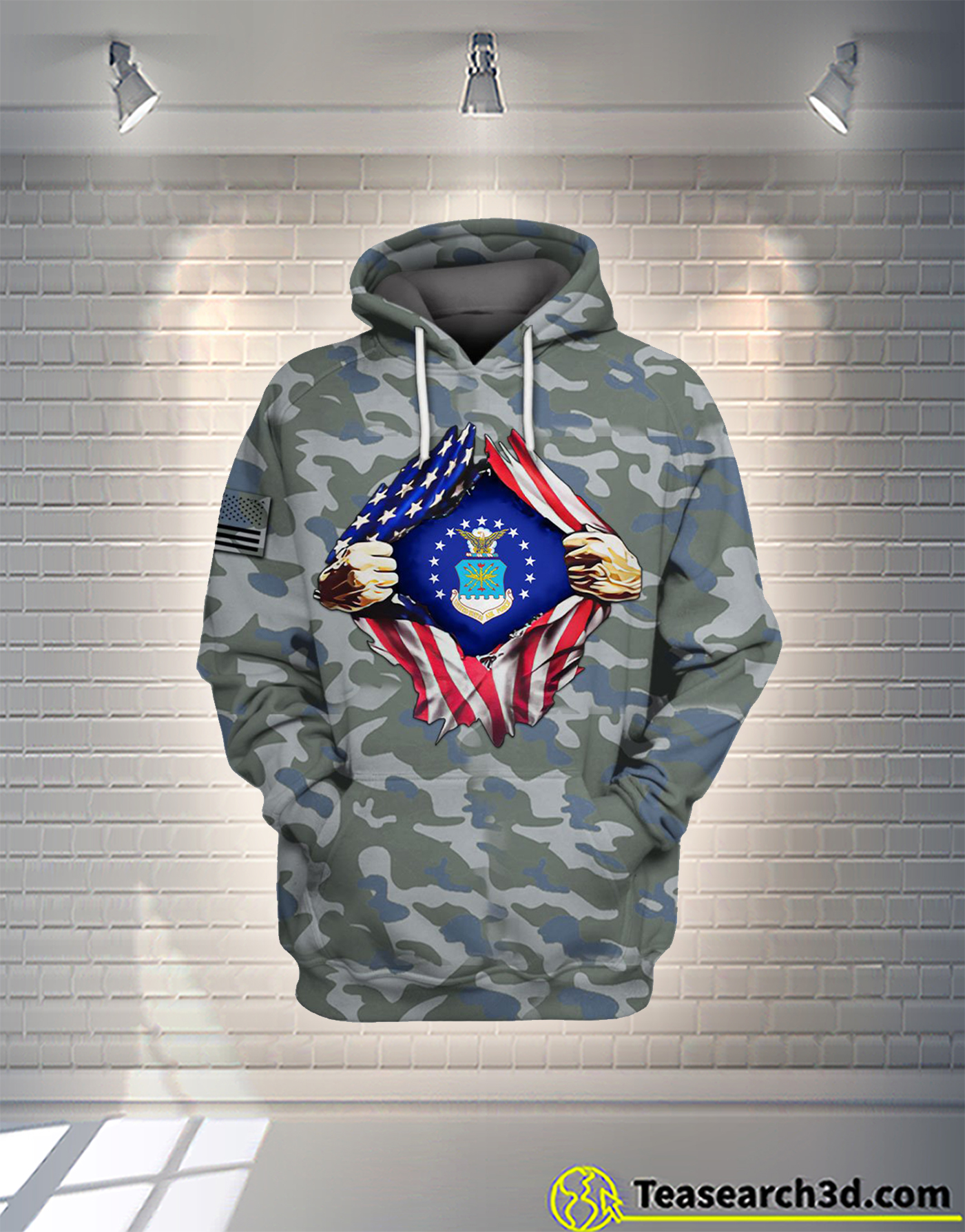 Air Force camo all over printed hoodie