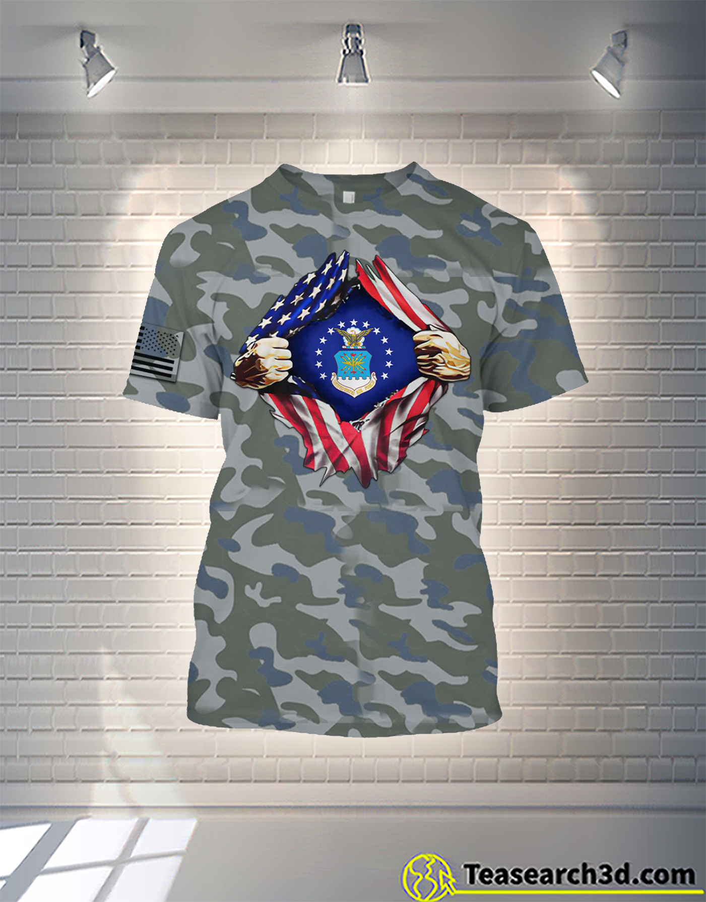 Air Force camo all over printed shirt