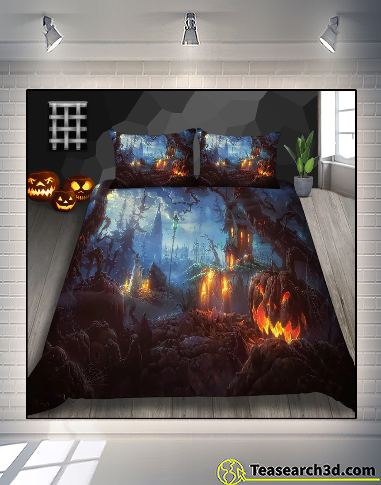 All hallows pasture halloween bedding set