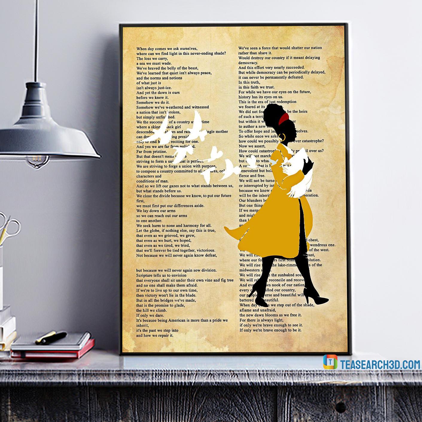 Amanda gorman inaugural poet poster A1