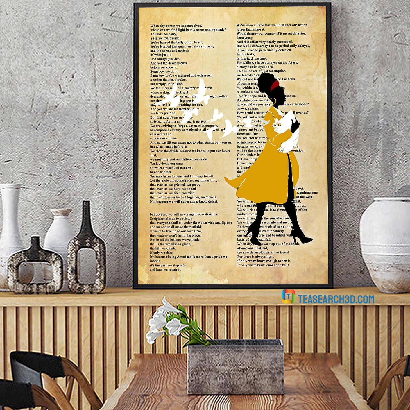 Amanda gorman inaugural poet poster A2