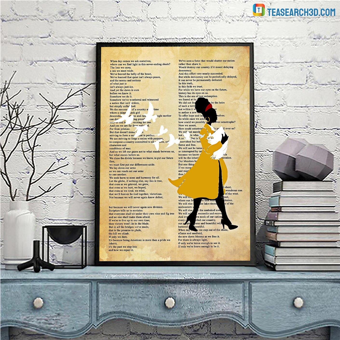 Amanda gorman inaugural poet poster A3