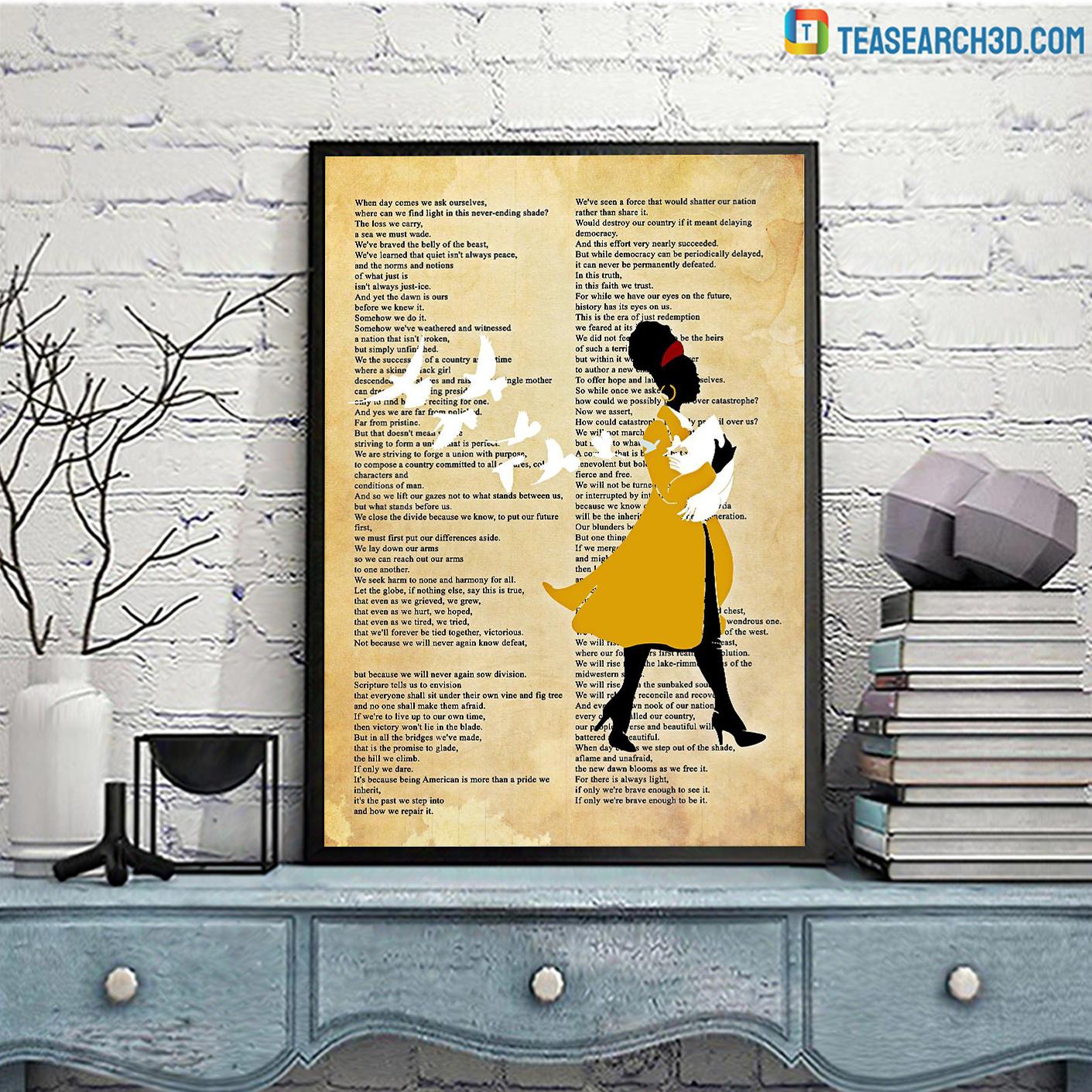 Amanda gorman inaugural poet poster