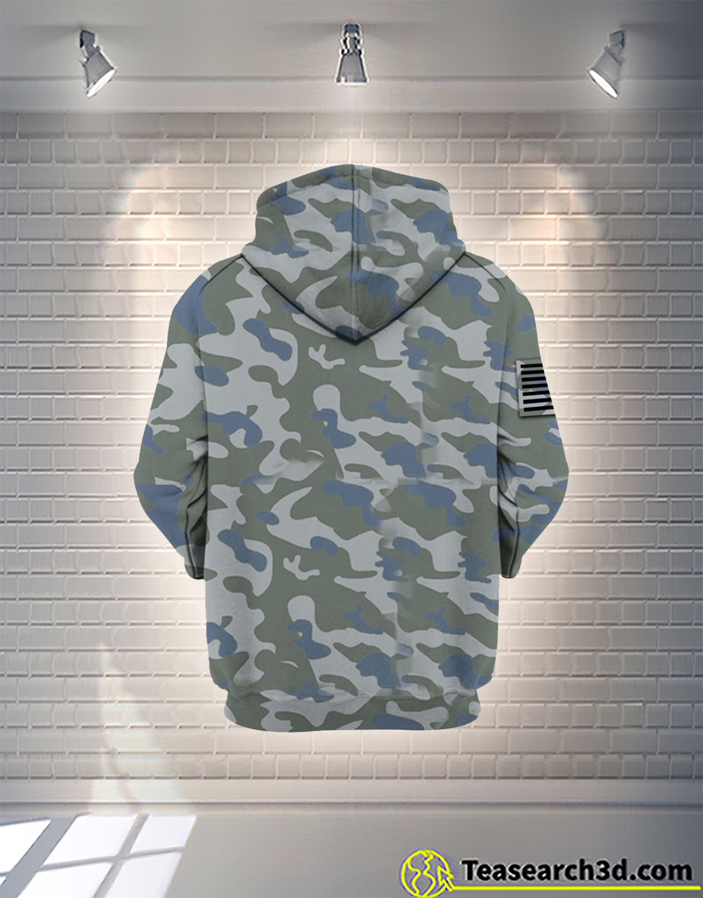 American by birth veteran by choice camo all over printed zip hoodie