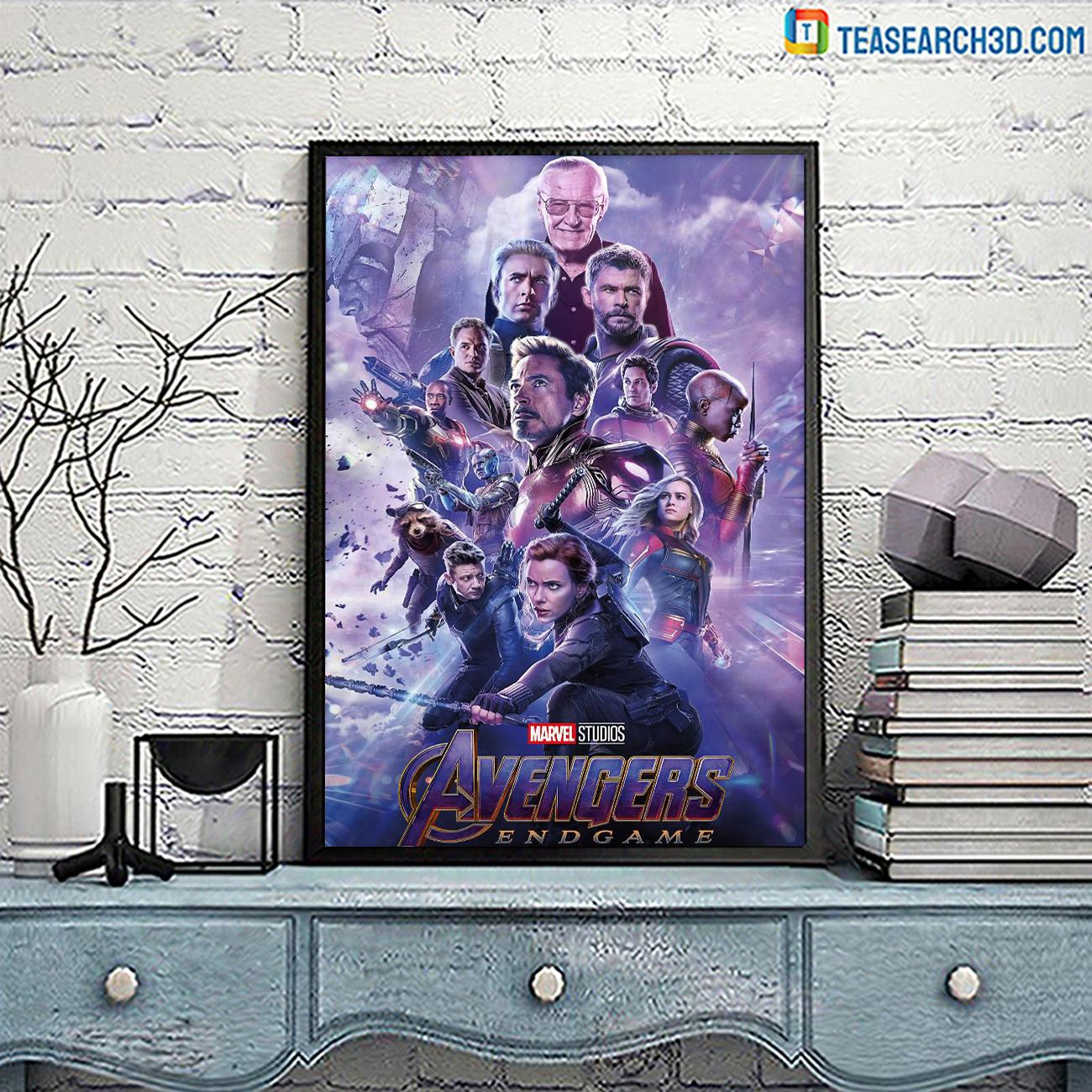 Avengers endgame marvel studio poster A3