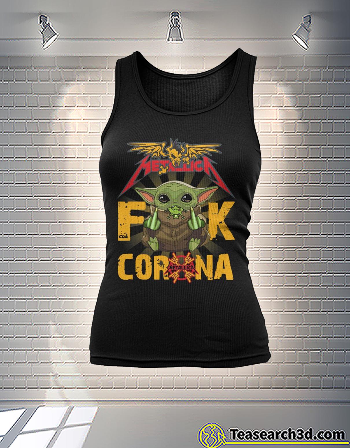 Baby yoda metallica fuck corona tank