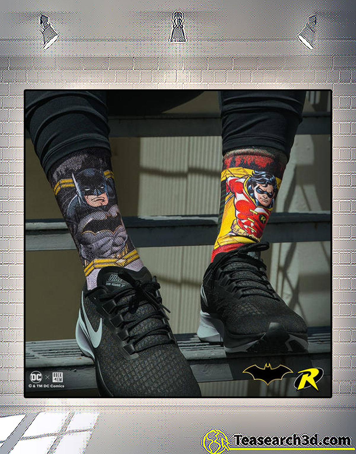 Batman and robin socks 1