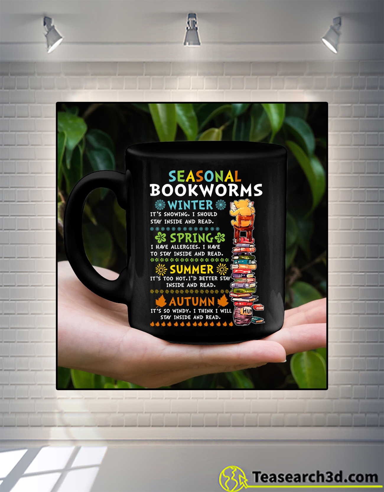 Bear Seasonal bookworms winter mug 1
