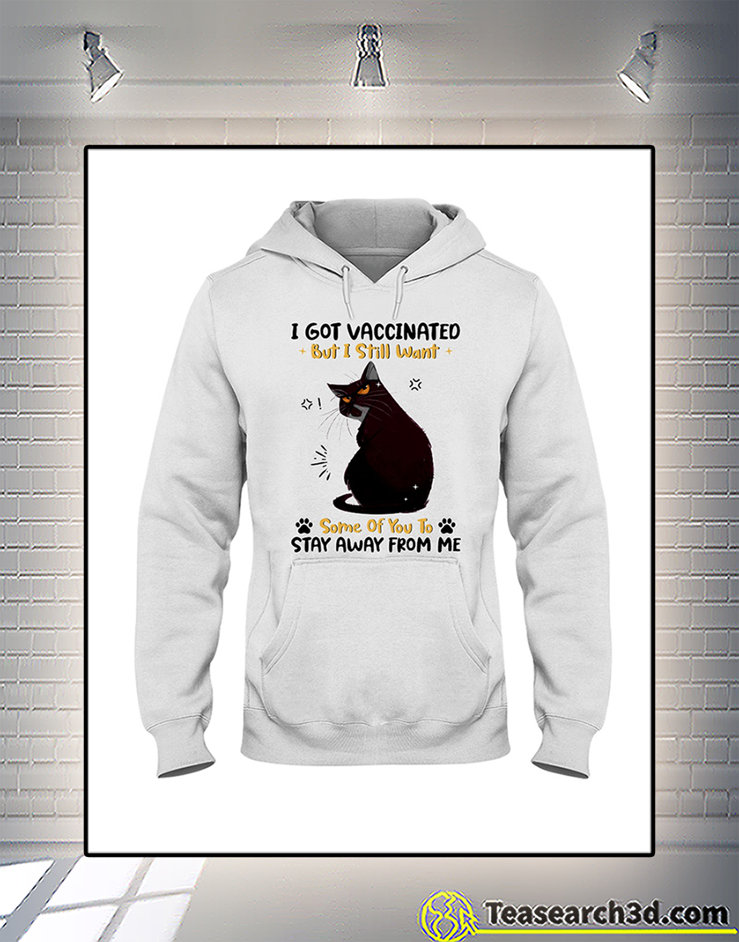 Black cat I got vaccinated but I still want some of you to stay away from me hoodie