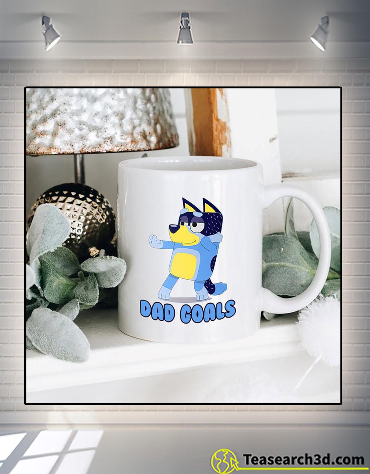 Bluey dad goals mug 2