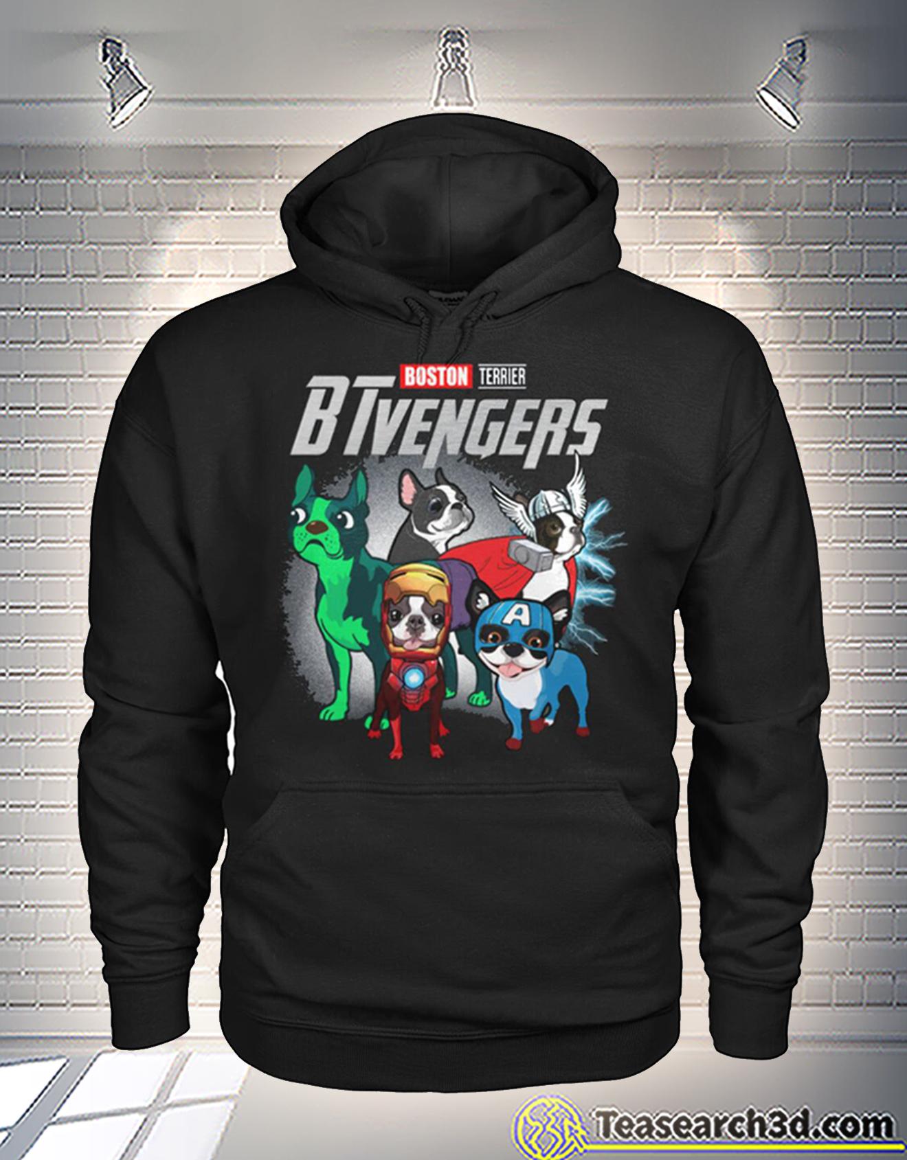 Boston Terrier btvengers avengers hoodie