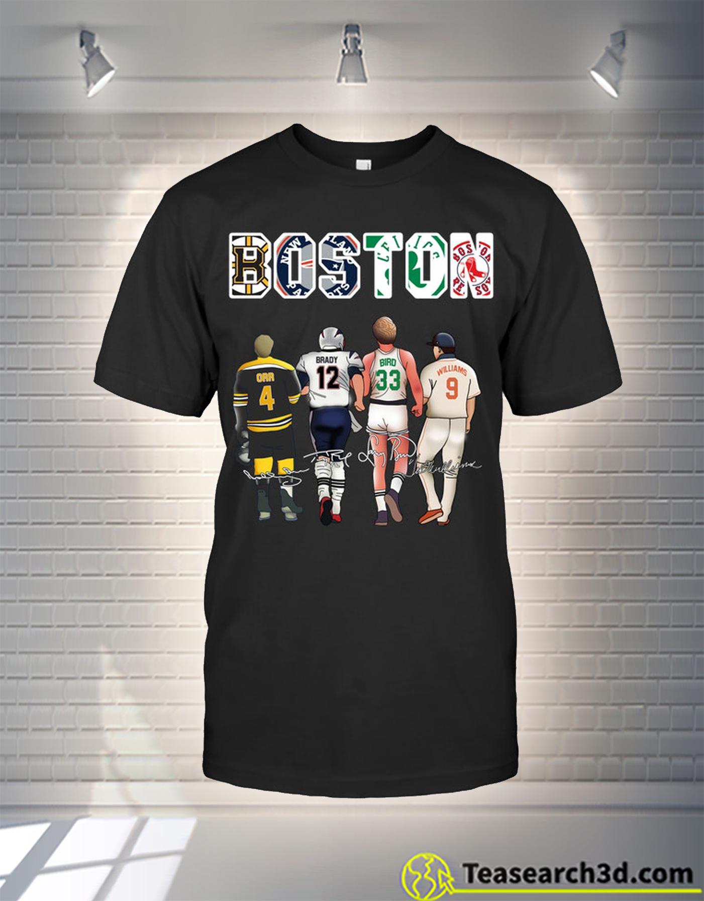 Boston players orr brady bird williams t-shirt