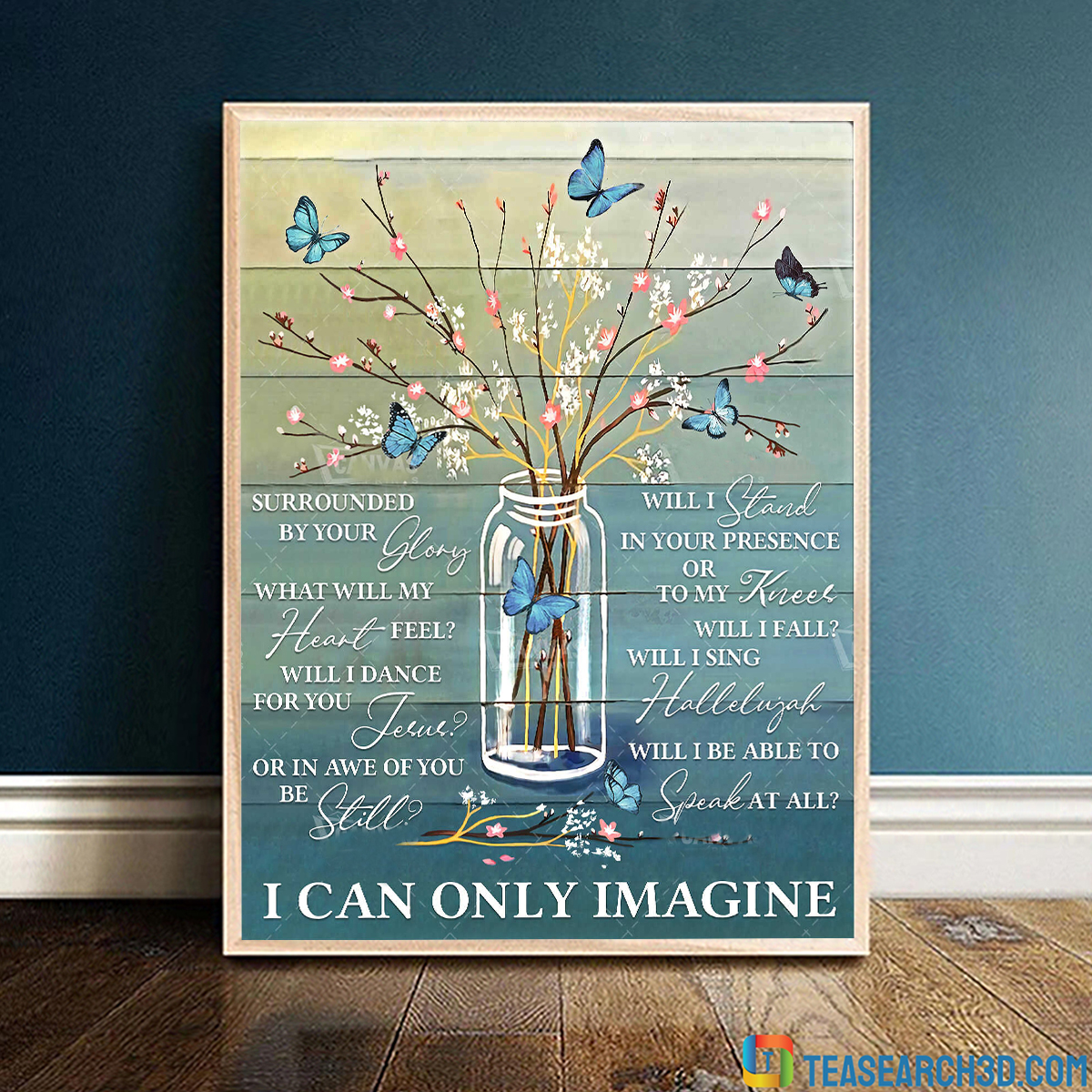 Butterfly I can only imagine canvas prints wall art floral decor large