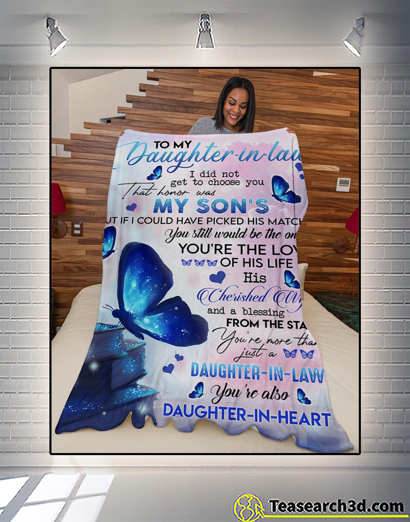Butterfly to my daughter in law fleece blanket 3