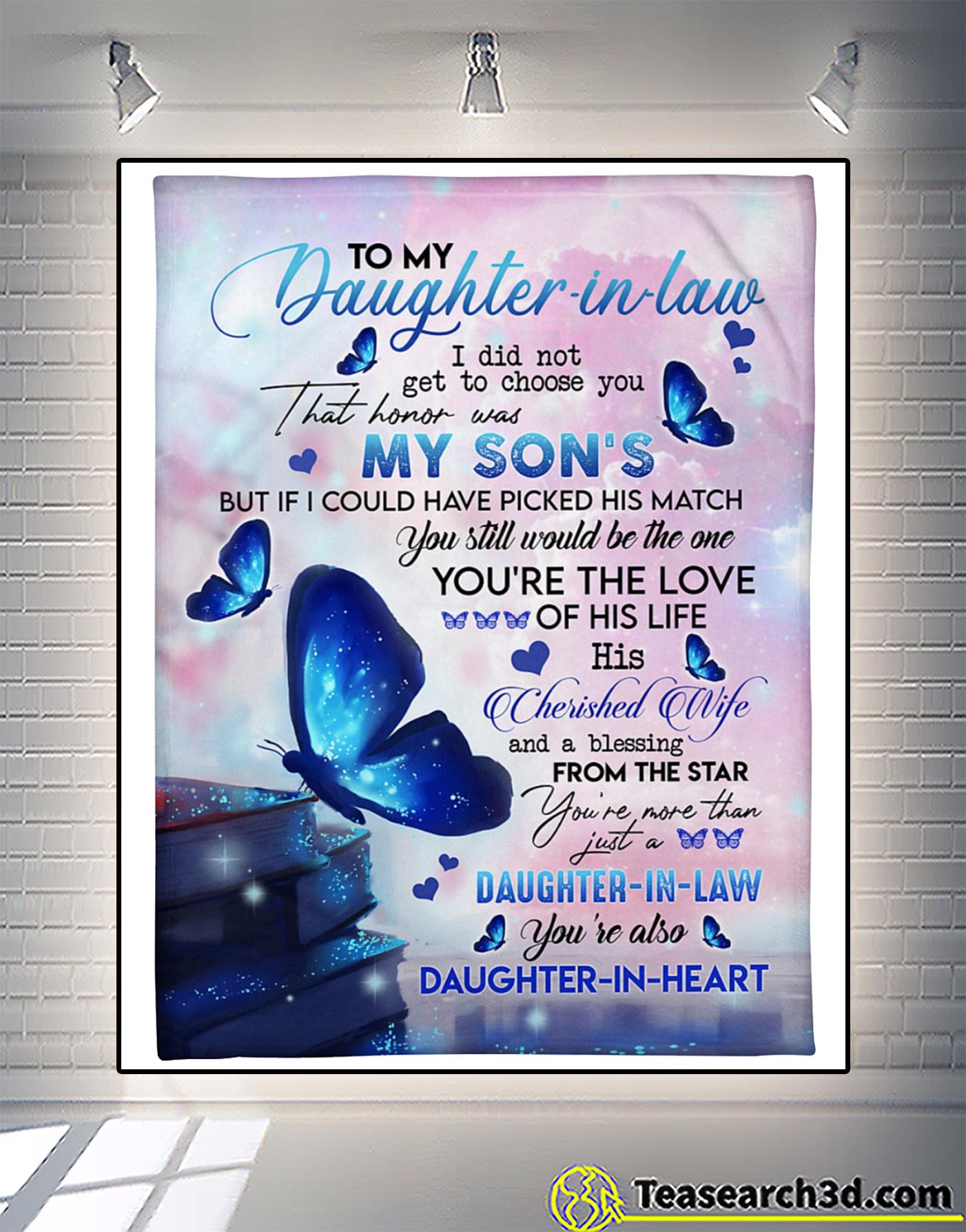 Butterfly to my daughter in law fleece blanket