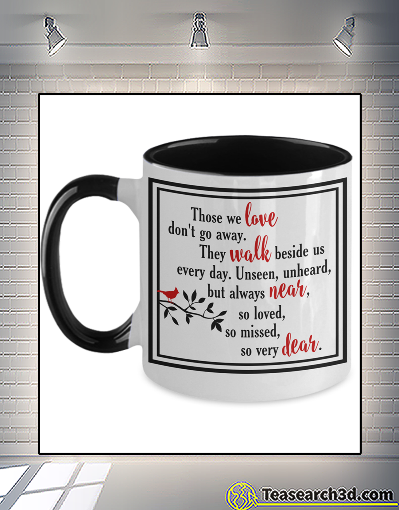 Cardinal those we love don't go away accent mug 1