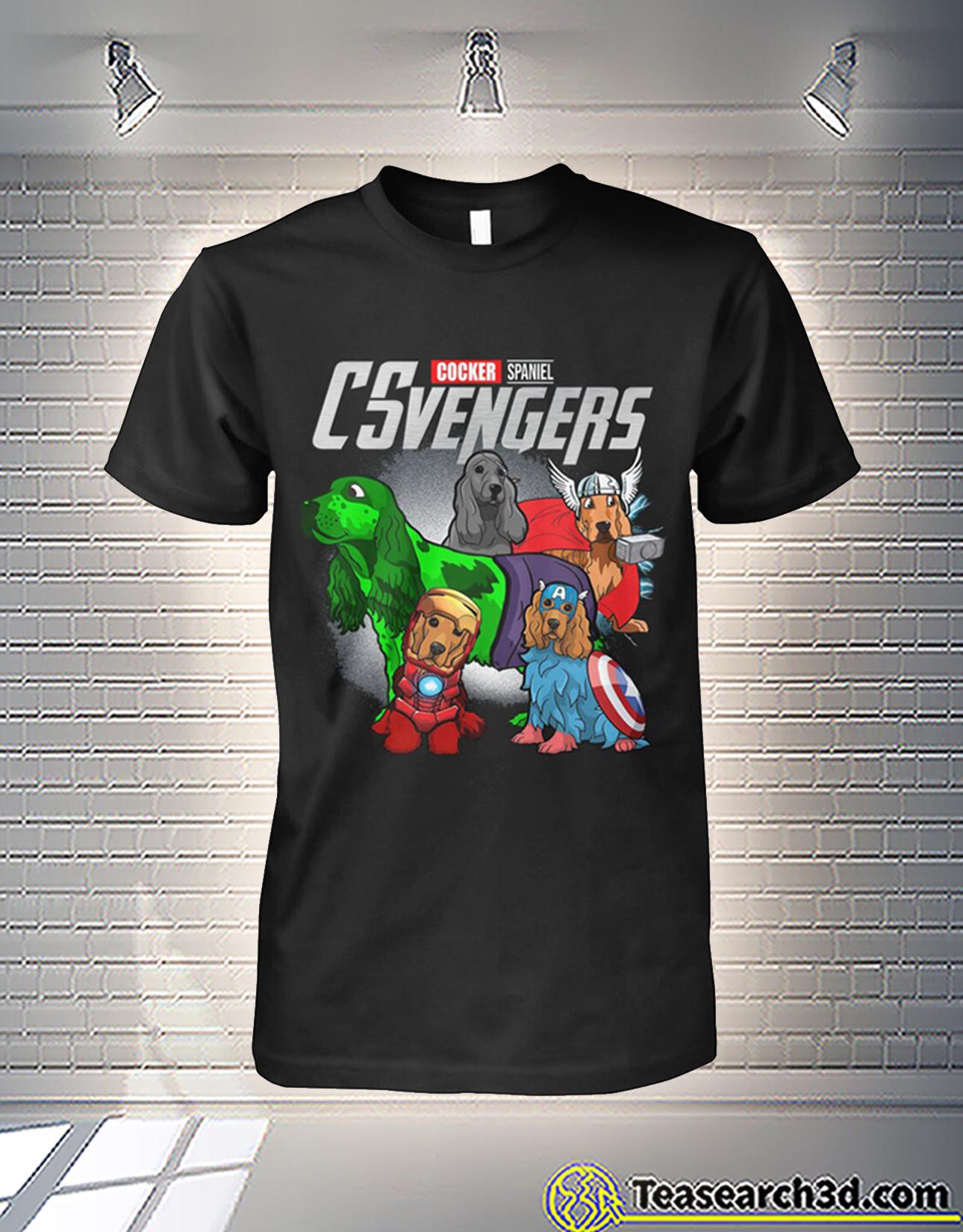 Cocker Spaniel csvengers avengers shirt