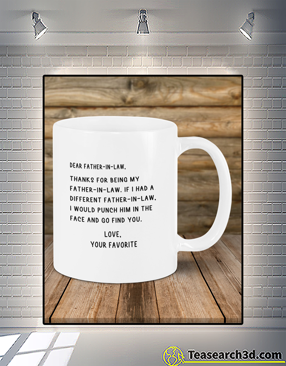 Dear father-in-law love your favorite mug 2