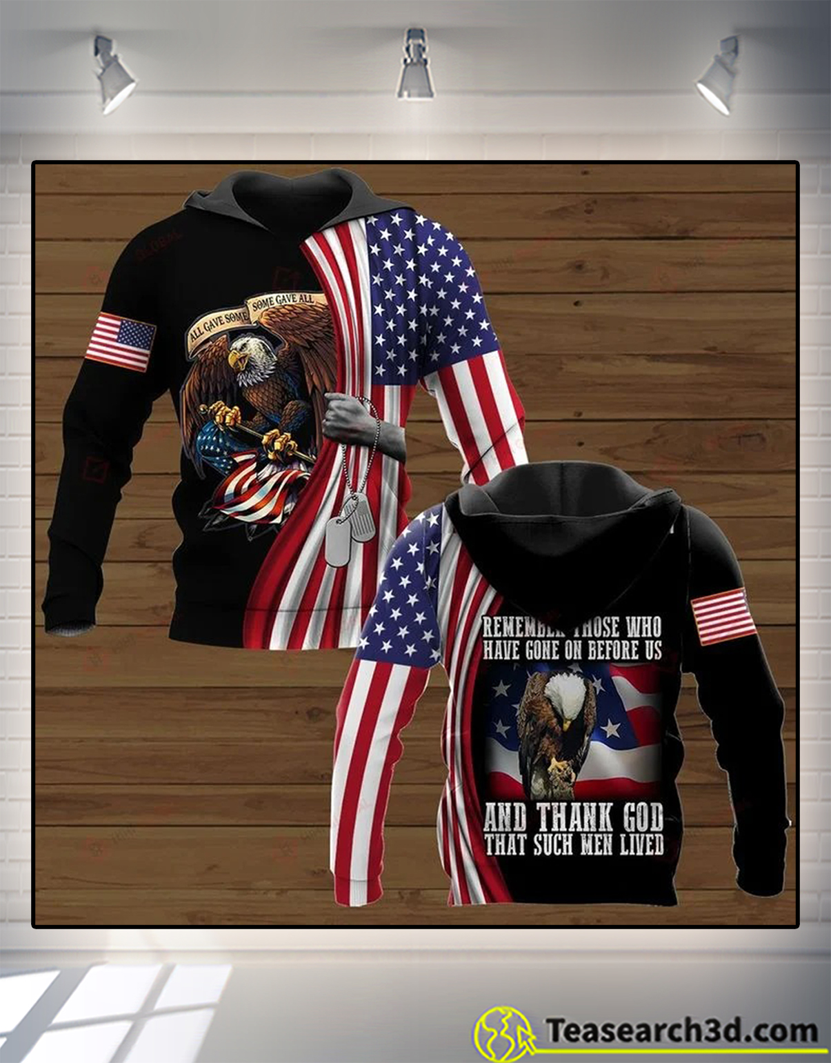 Eagle remember those who have gone on before us and thank god 3d all over printed hoodie
