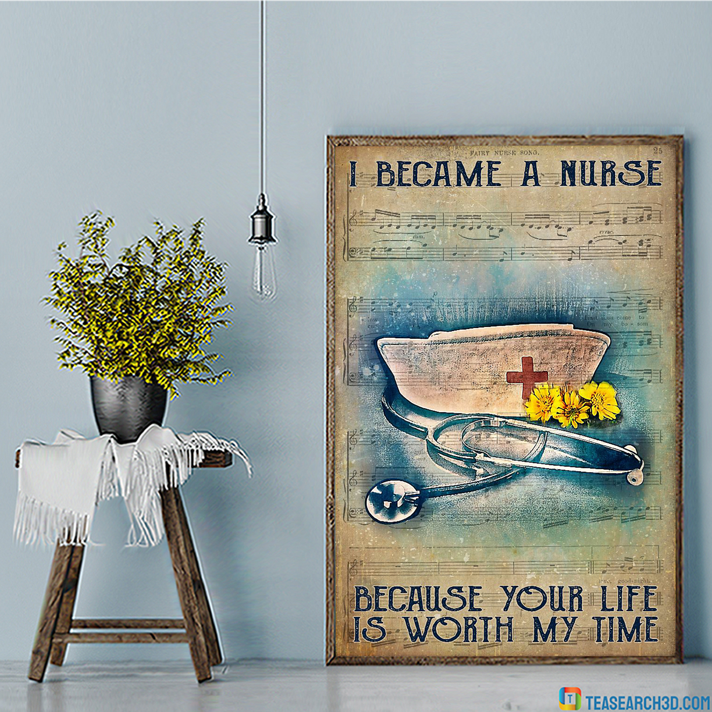 Fairy nurse song I became a nurse because your life is worth my time poster
