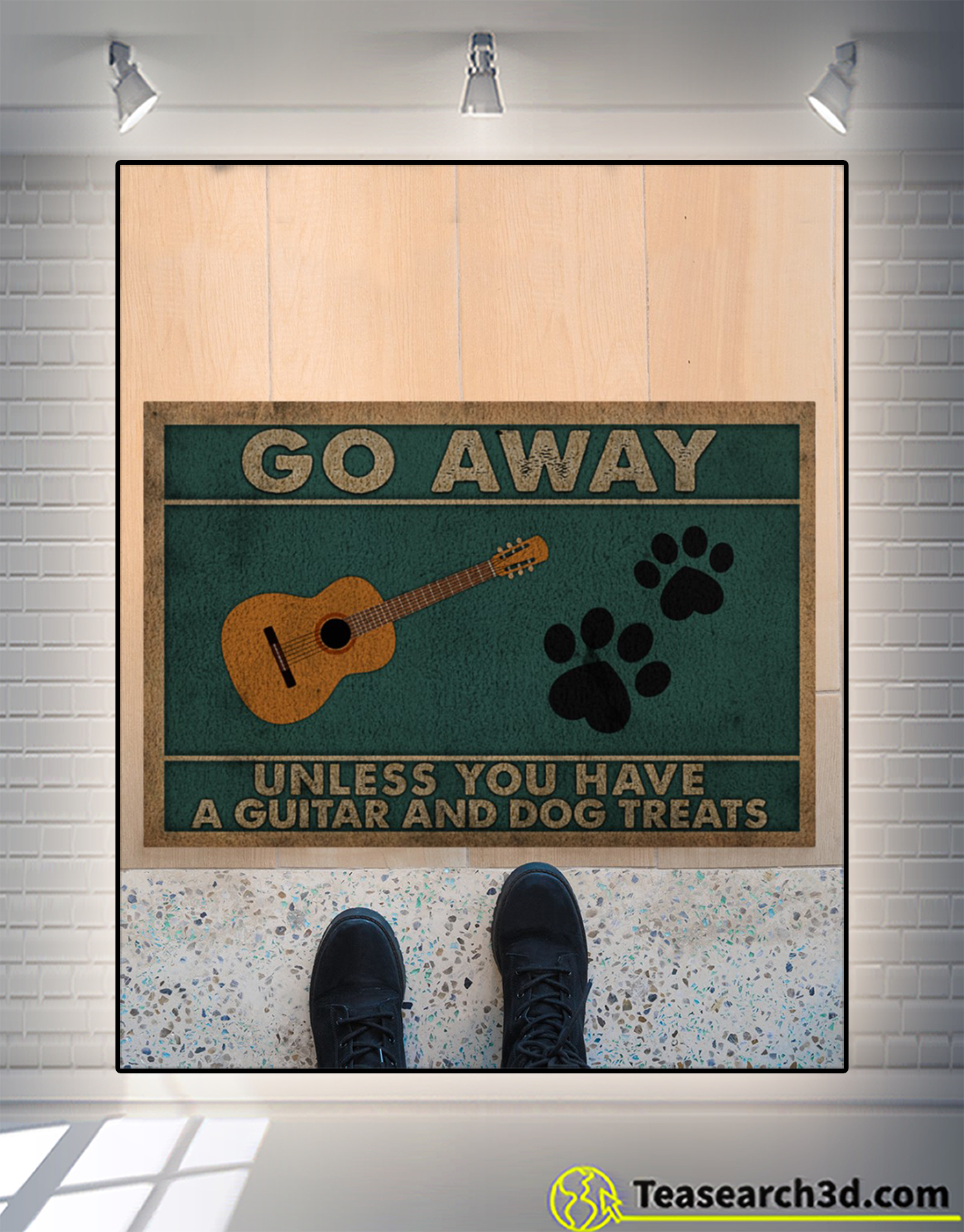 Go away unless you have a guitar and dog treats doormat 2