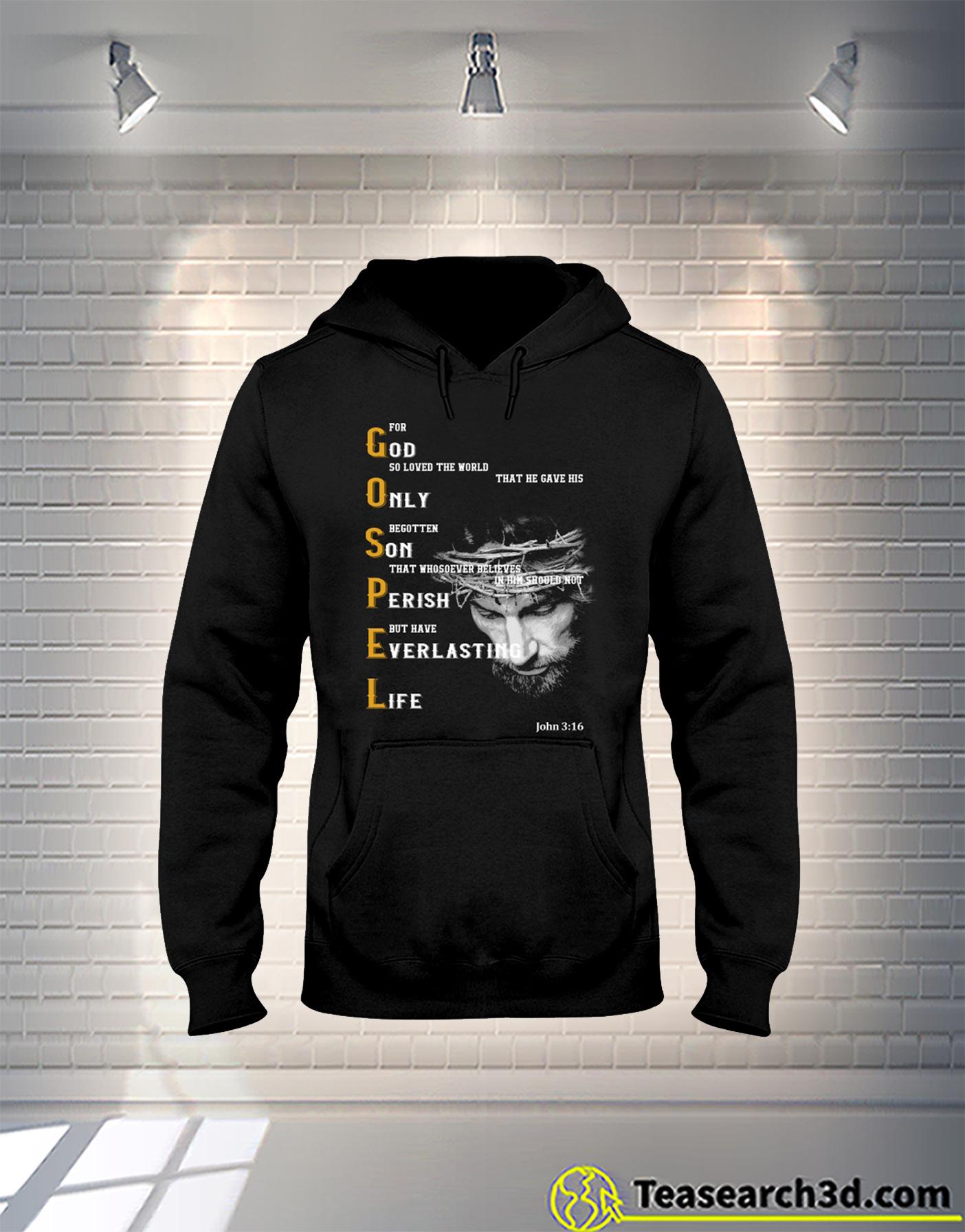 God only son perish everlasting life hoodie
