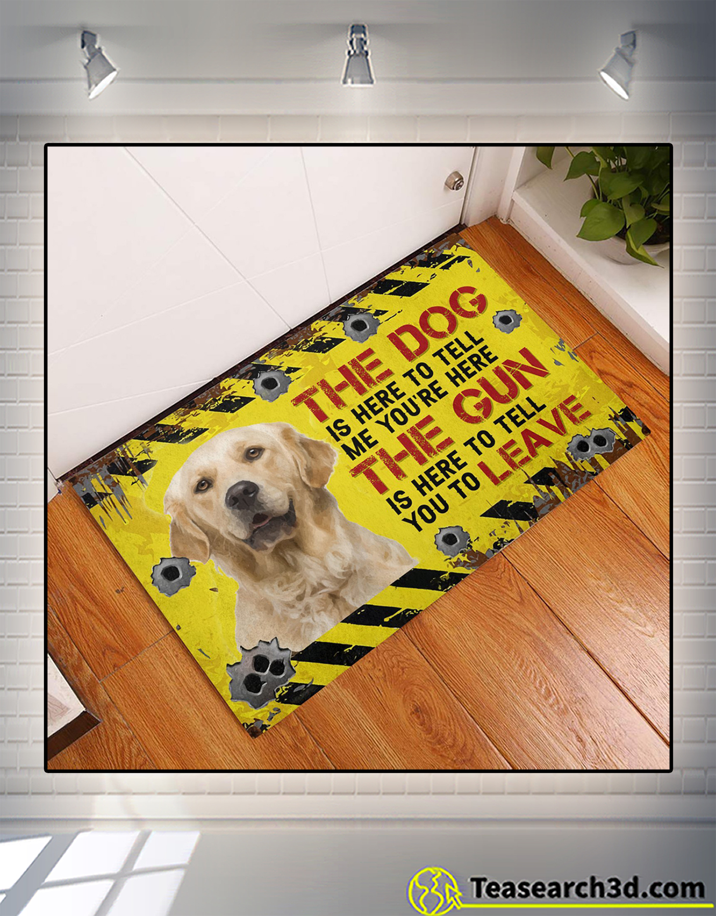 Golden Retriever The dog is here to tell me you're here doormat 1