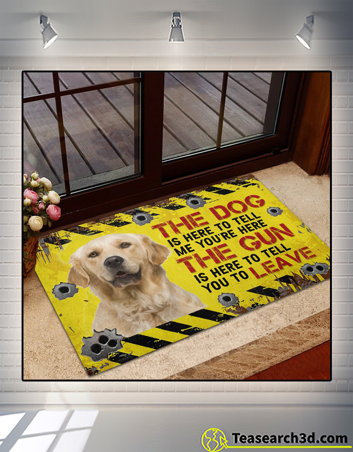 Golden Retriever The dog is here to tell me you're here doormat