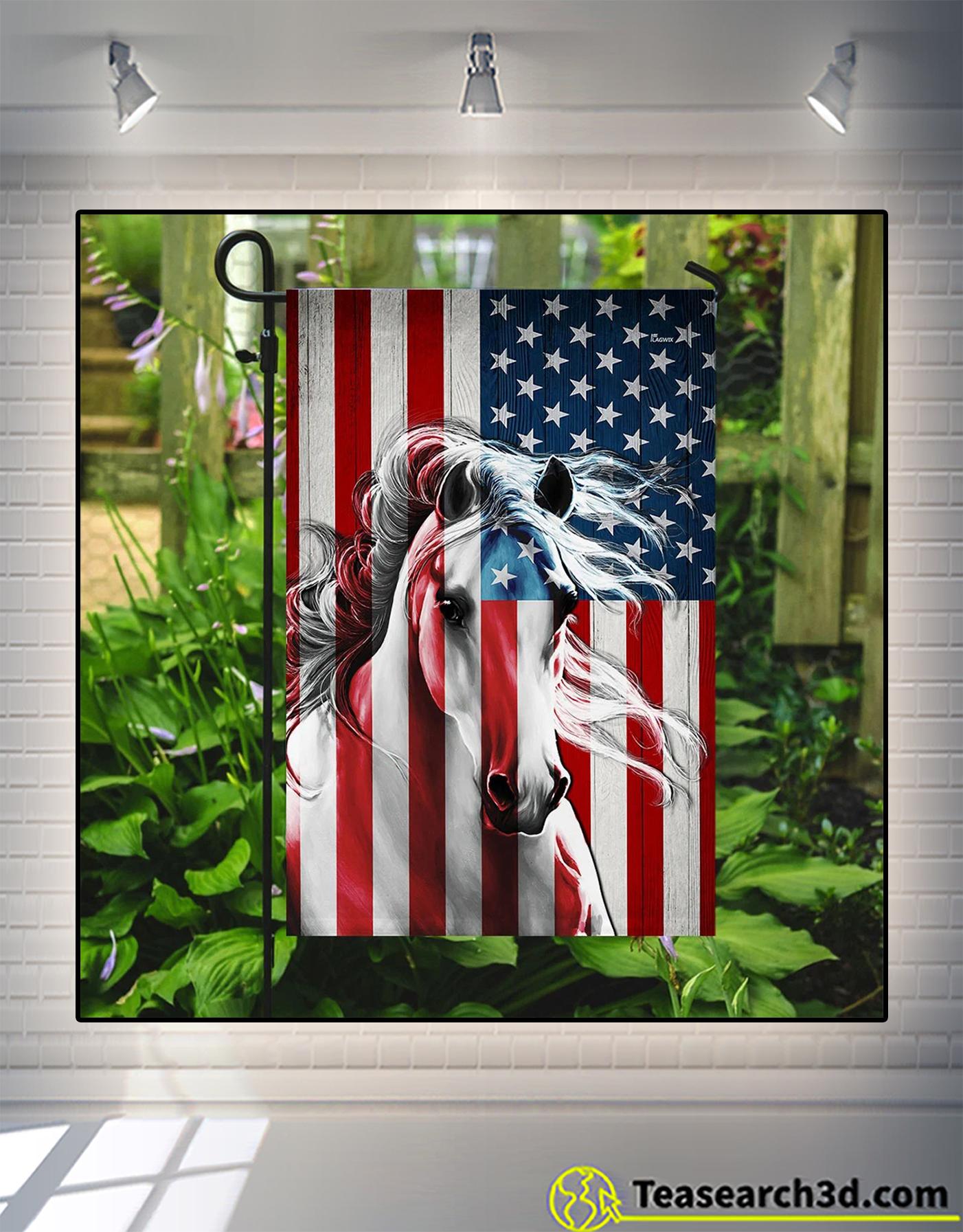 Horse american flag 3