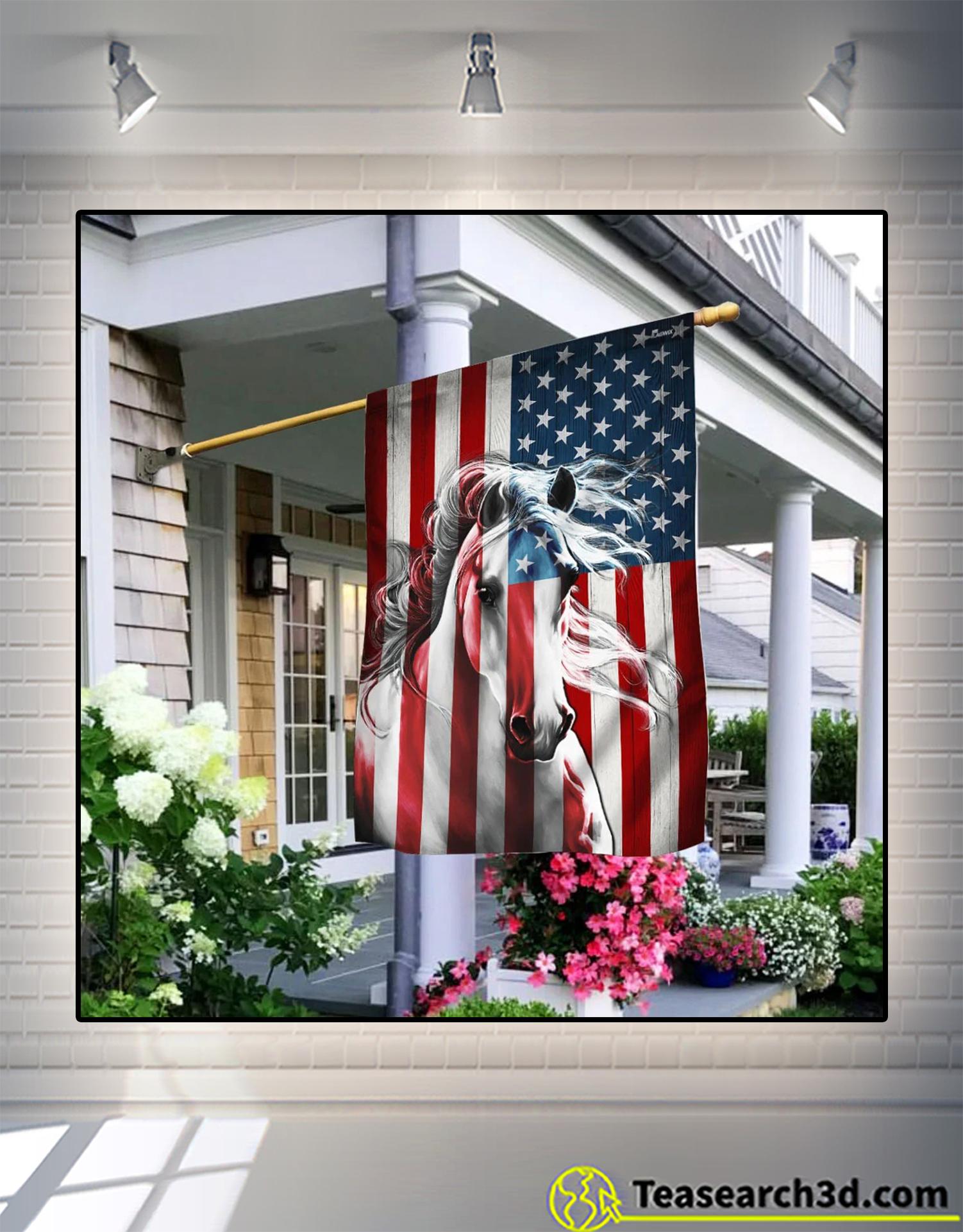 Horse american flag