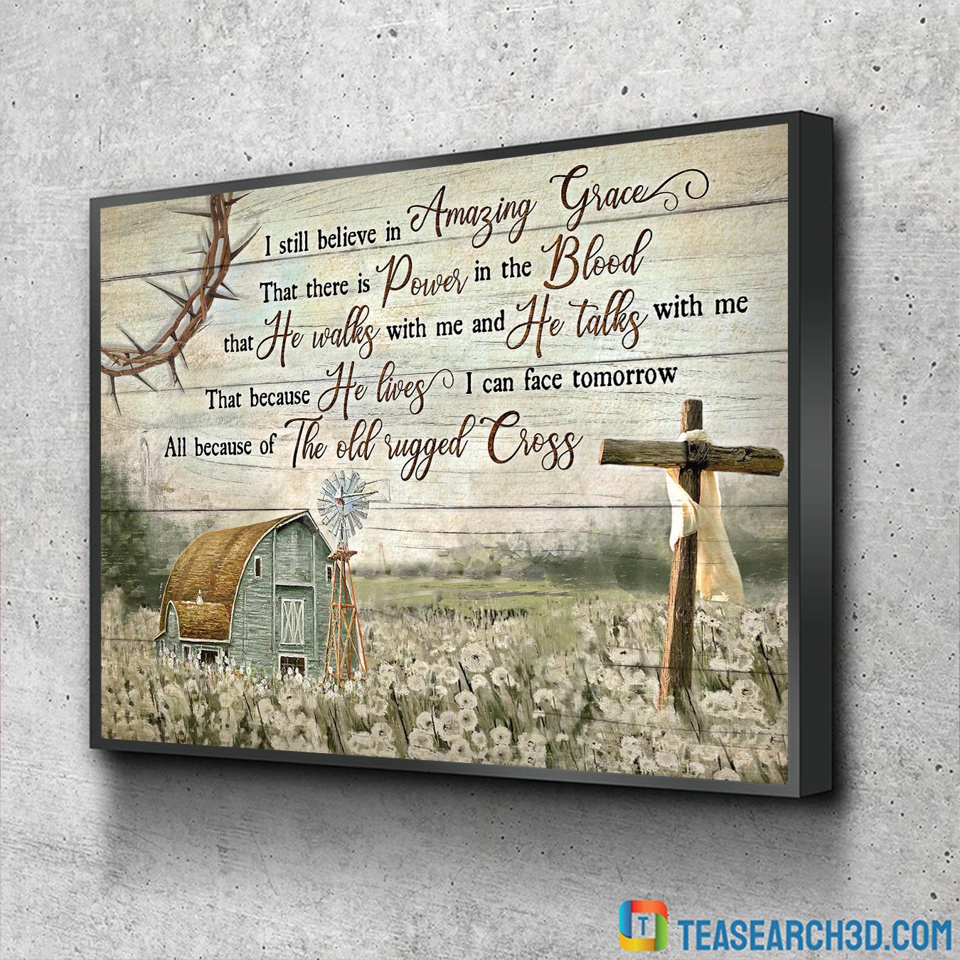 I still believe in Amazing Grace Jesus Landscape Canvas Prints large