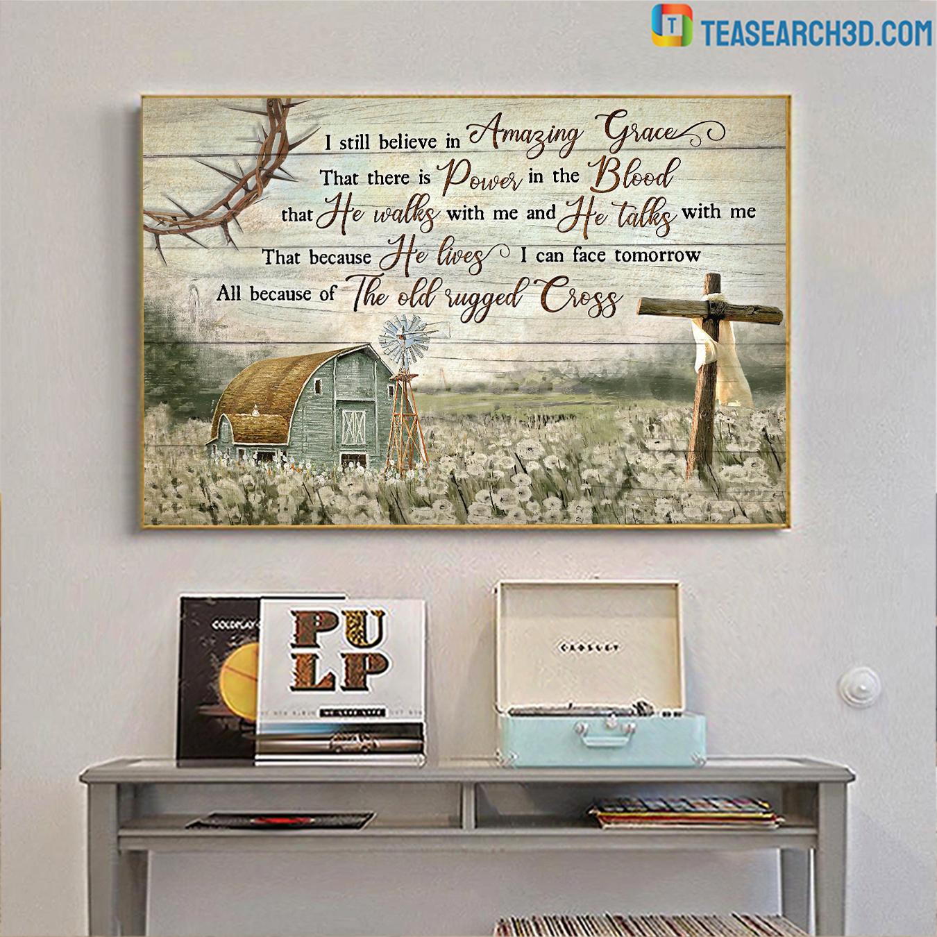 I still believe in Amazing Grace Jesus Landscape Canvas Prints mediun