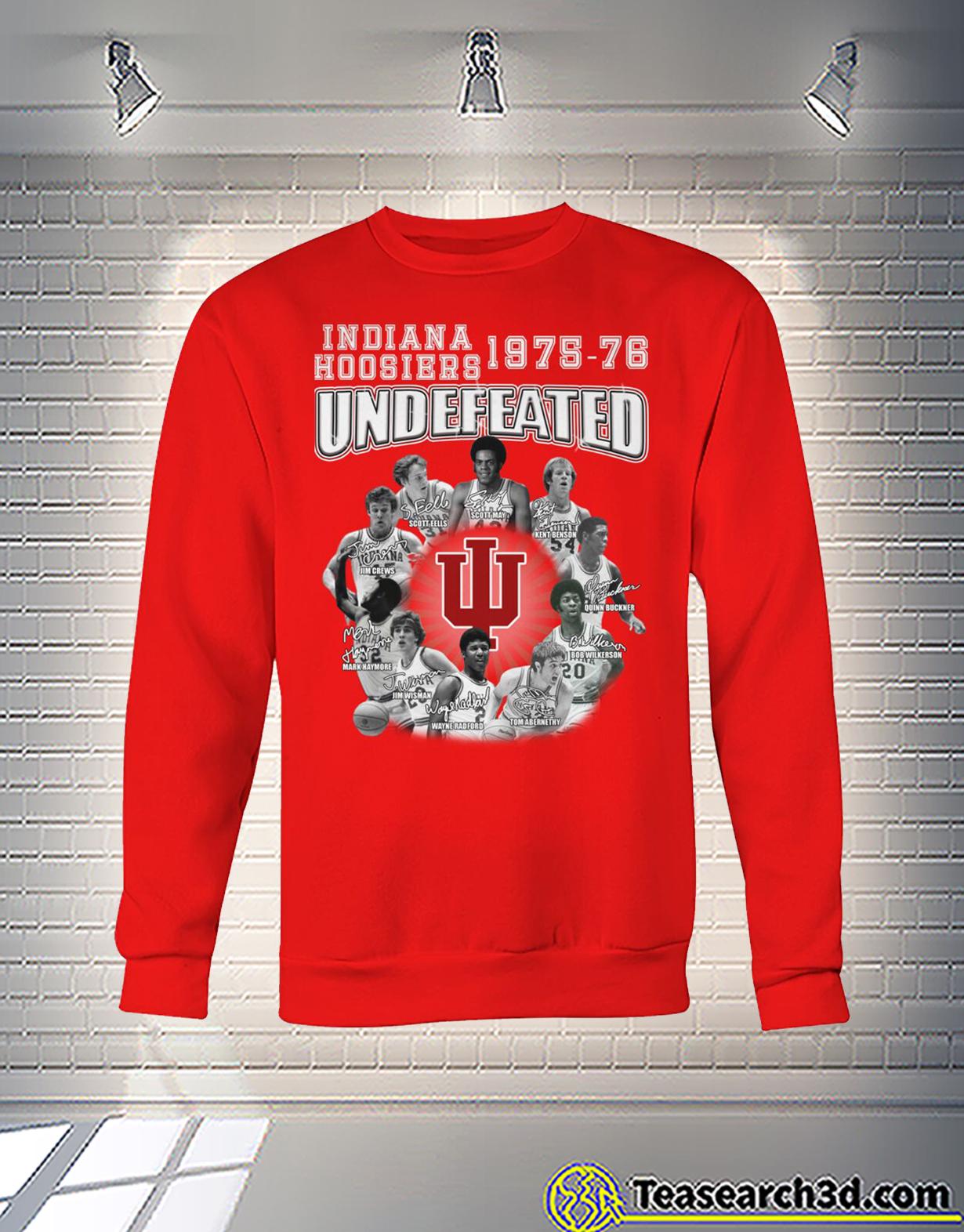 Indiana hoosiers 1975-76 undefeated players signature sweatshirt