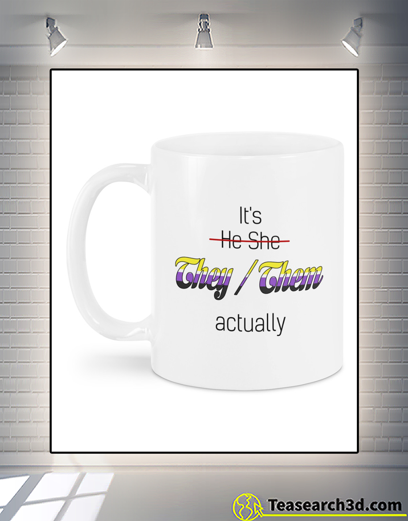 It's he she they them actually mug 1