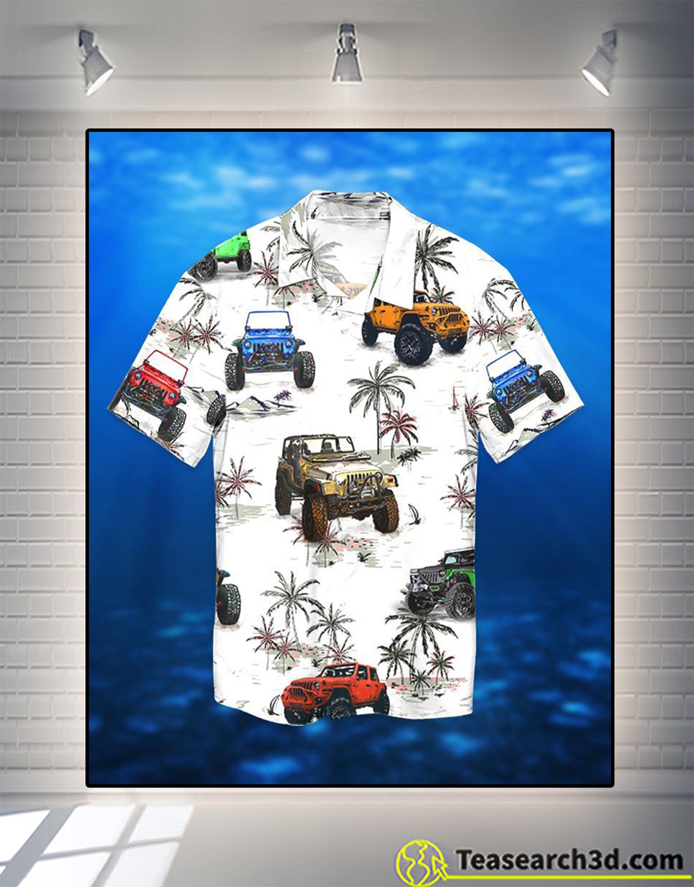 Jeep ocean palm tree hawaiian shirt