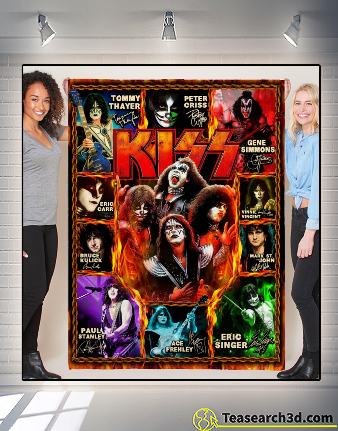 Kiss artists signature blanket 1