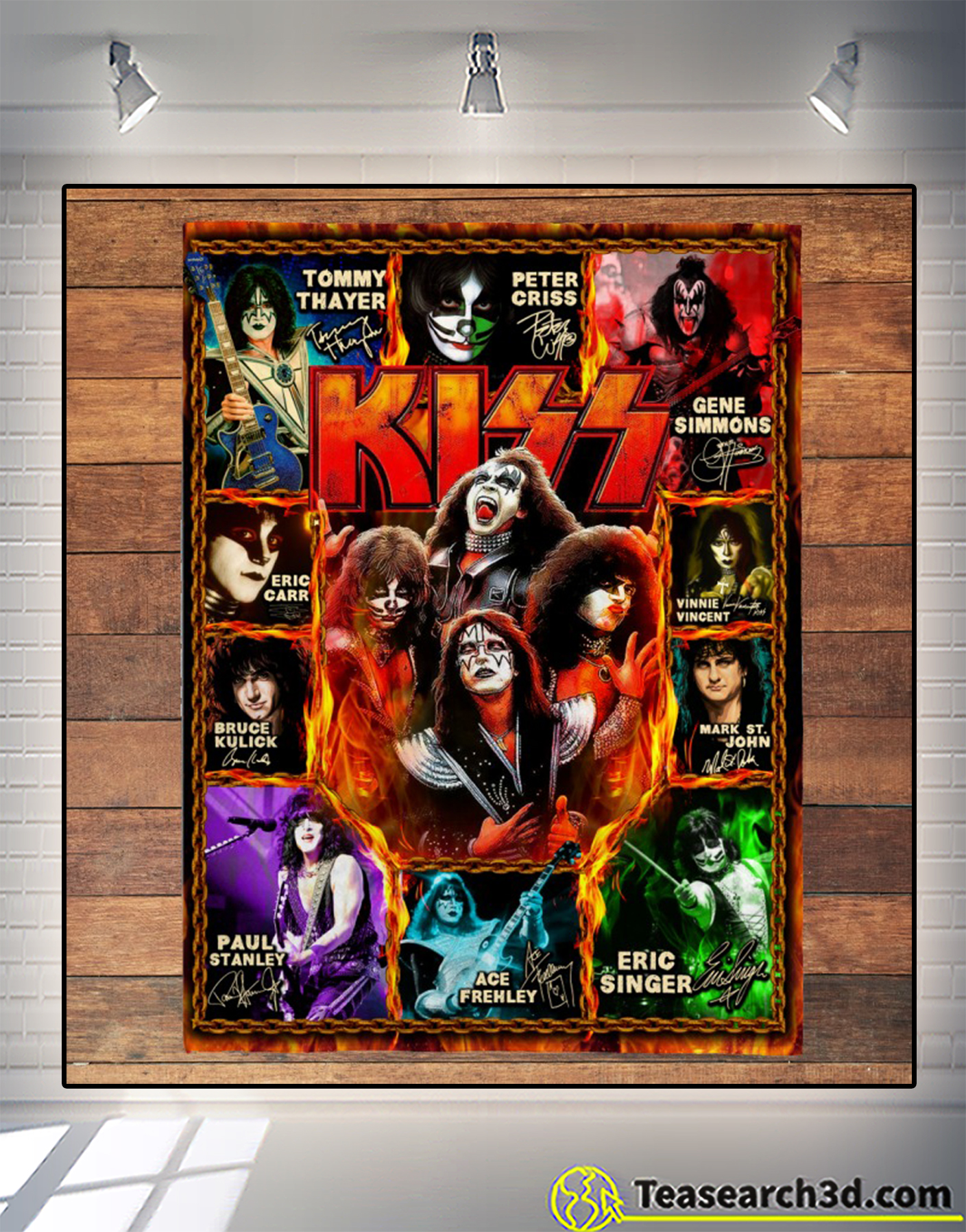Kiss artists signature blanket 2