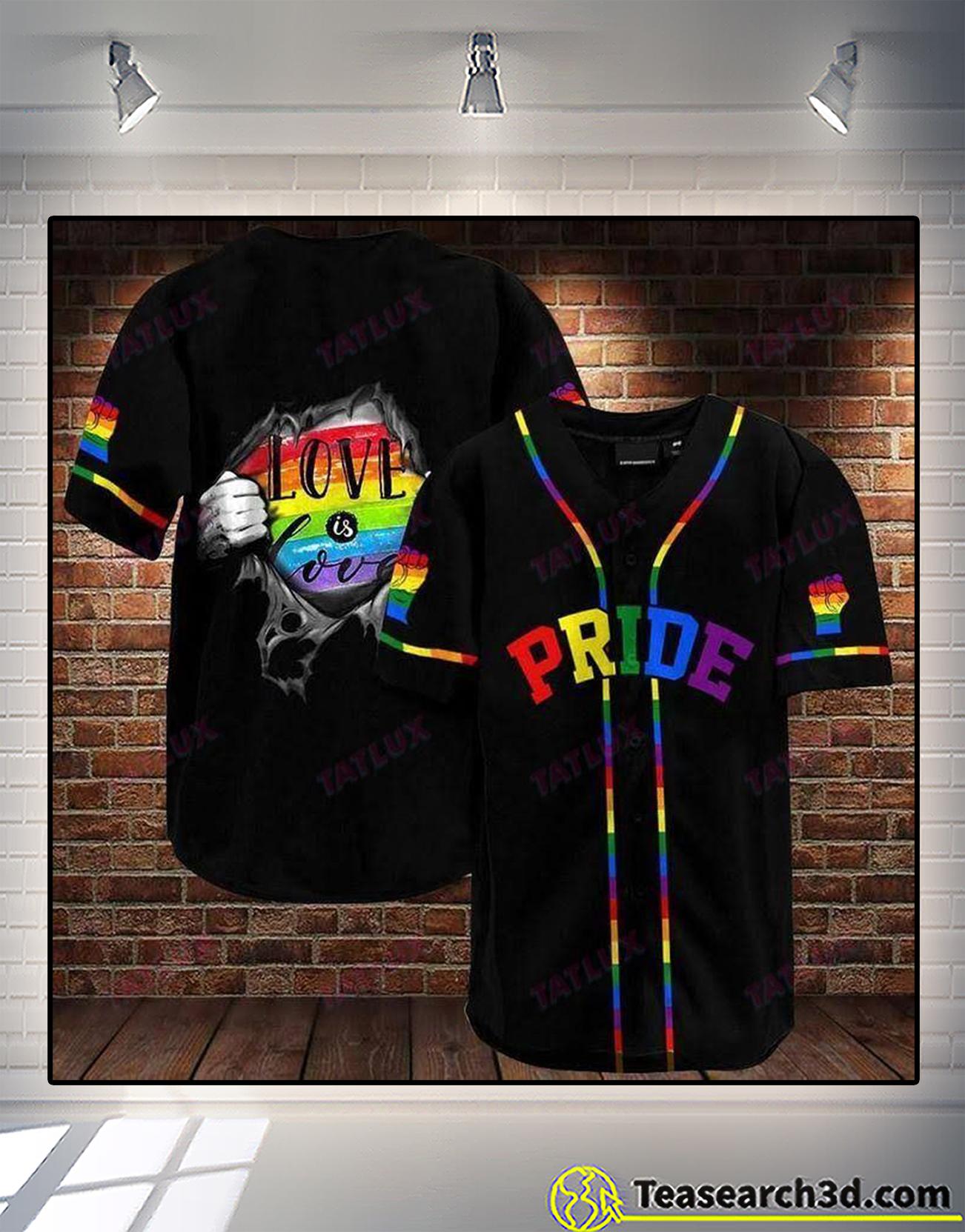 LGBT pride love is love baseball shirt 1