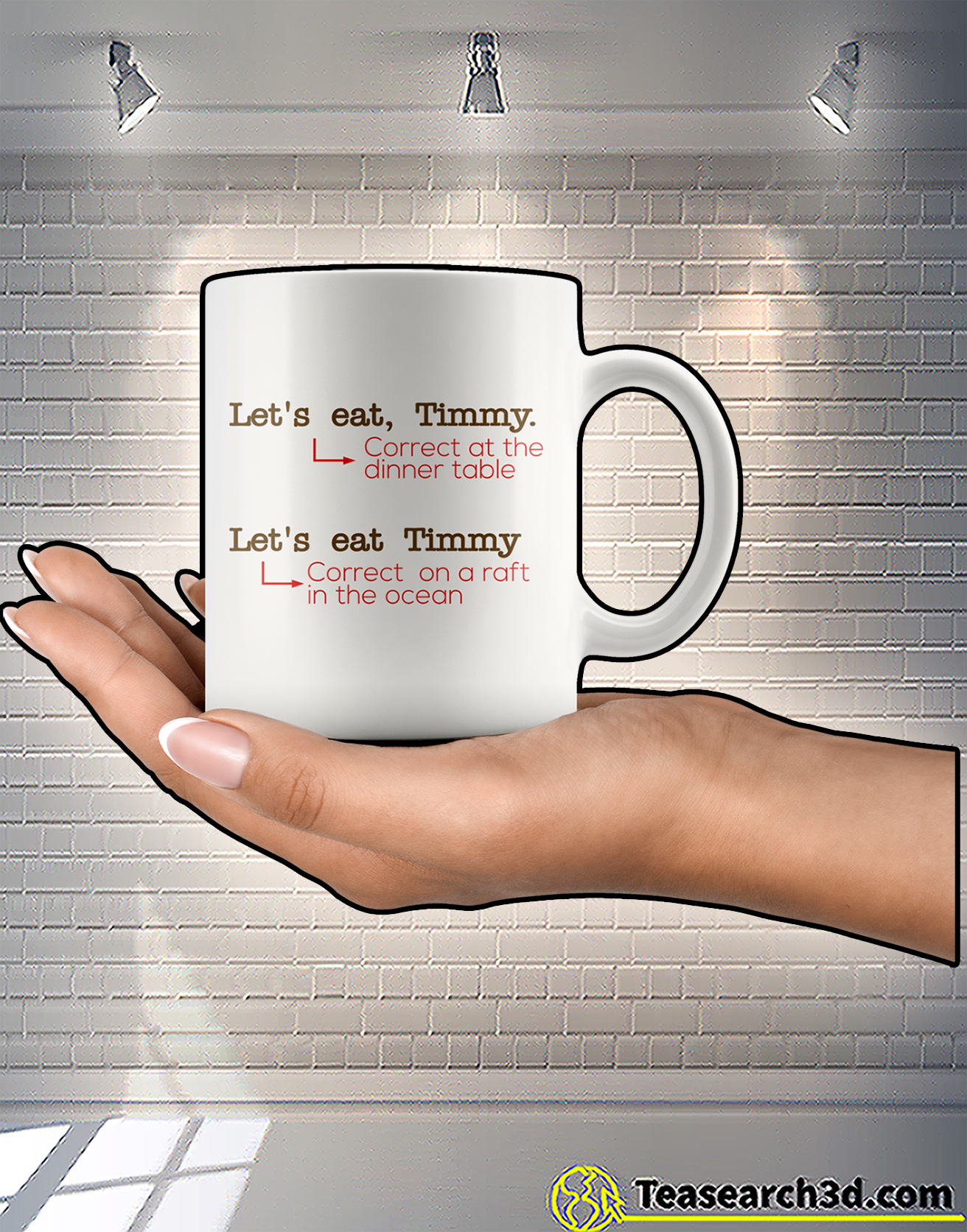 Let's eat timmy correct at the dinner table mug 2