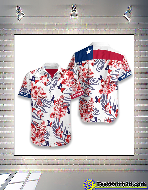 Lone star nation don't mess with texas hawaiian shirt 2