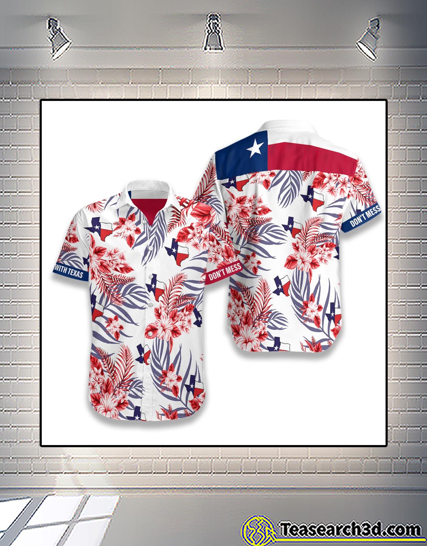 Lone star nation don't mess with texas hawaiian shirt