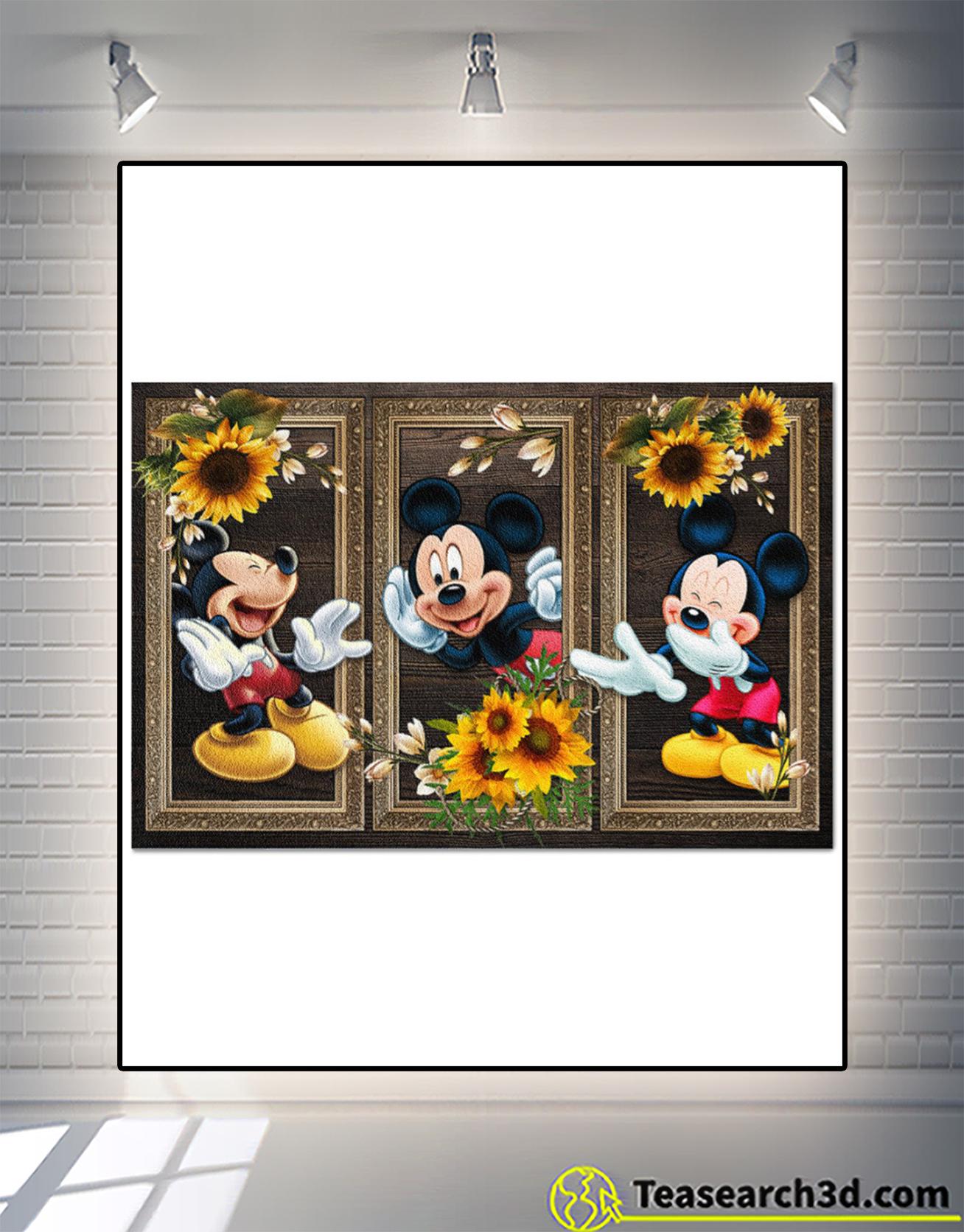 Mickey sunflower doormat 1